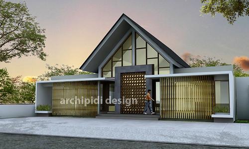 Rumah Makan Minimalis Tropis di Condet Jakarta