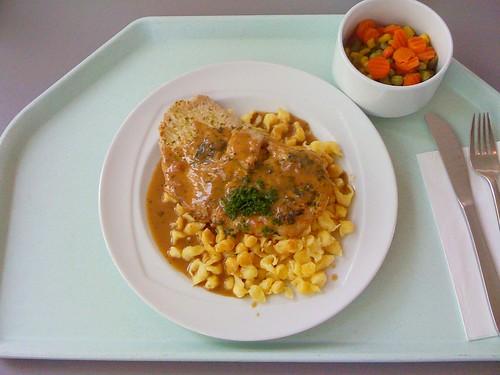 Bärlauchrahmschnitzel & Knöpfle