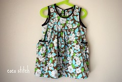 Girl's tunic dress (coco stitch) Tags: girl toddler dress tunic