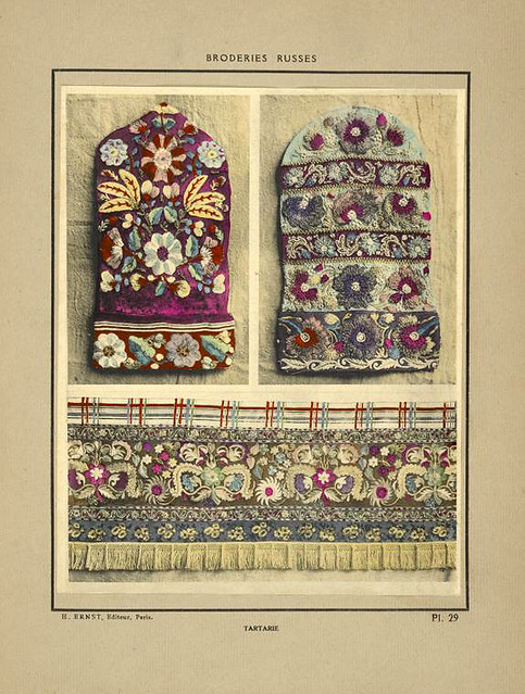 007-Manoplas y tela bordadas-Tartaria-Broderies russes tartares armeniennes 1925