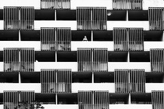 Throw Alderman from the Balcony of the Springs Hotel (clay.wells) Tags: park county summer urban white abstract black hot monochrome canon eos hotel downtown pattern outdoor clayton balcony july wells garland springs arkansas usm spa ef 1740mm repitition 2010 repeating bigmomma f4l 40d img3545 thechallengefactory mostly365 thepinnaclehof kanchenjungachallengewinner tphofweek54