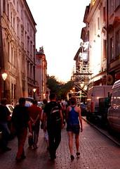 Nächtliche Altstadt von Krakau