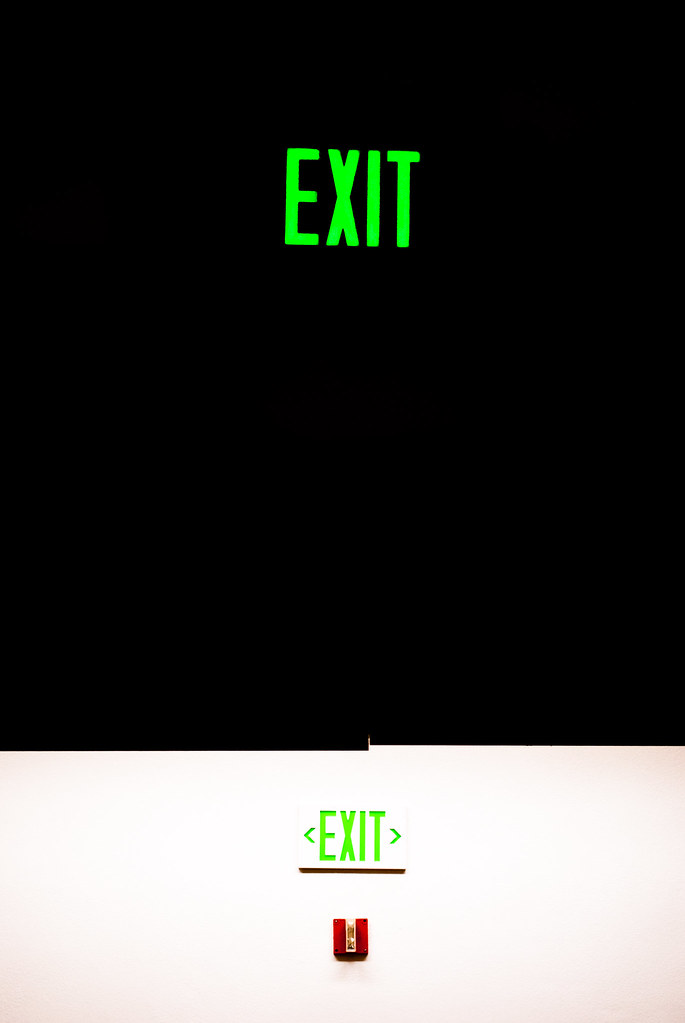 exit in green