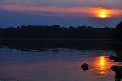 Twilight (Bill Maksim Photography) Tags: sunset shadow sun lake reflection water set clouds sunrise boat rocks purple no reflect launch pymatuning hue crawford jamestown edit maksim linesville shenango vanagram