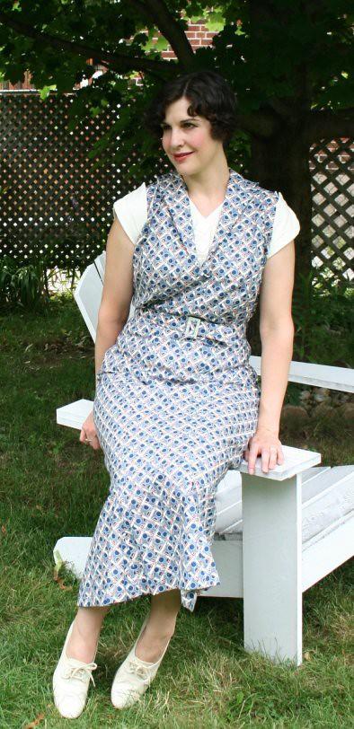 nudeedudee repro 1930s dress