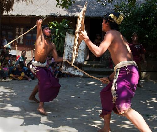 Come Get Some.  Peresean / Stick Fighting ~ Pujut Village. Lombok, Indonesia 2010