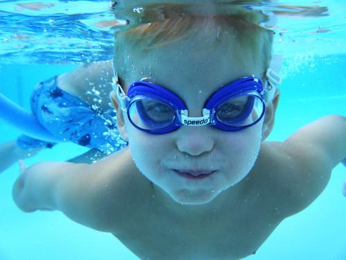 Nate under water
