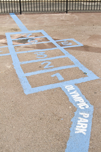 Blue hopscotch?