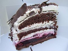 Vegan Schwarzwlder Kirschtorte (Black Forest Cake) from Cafe Vux (veganbackpacker) Tags: black berlin cake forest germany dessert vegan cafe sunday vegetarian brunch schwarzwlder kirschtorte vux