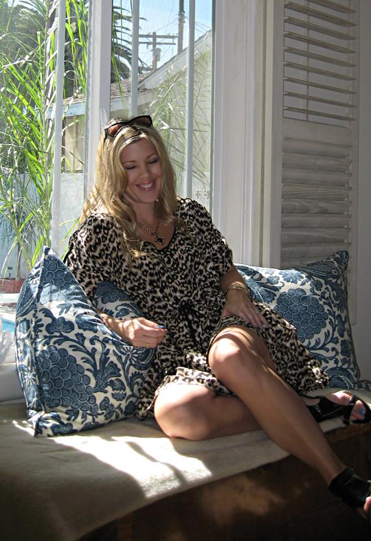 laughing+leopard print dress+master bedroom window -1