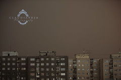 Apocalyptic sky (no photoshop) (claudiaveja) Tags: old storm rain weather buildings spook