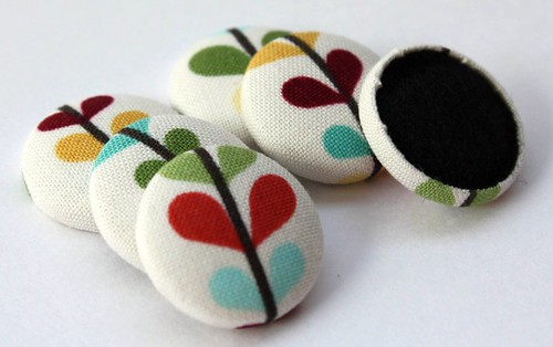 Bloom and Grow Fabric Covered Button Magnets