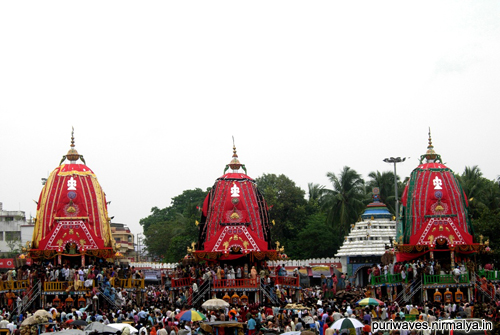 Lord Jagannath is now at Gundicha Temple