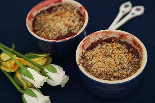 Peach And Plum Crumble