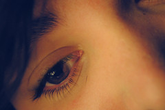 ___ ______ ___ (SARA-ΔNNΞ) Tags: brown macro hair eyes nikon focus eyelashes skin wish dslr d3000