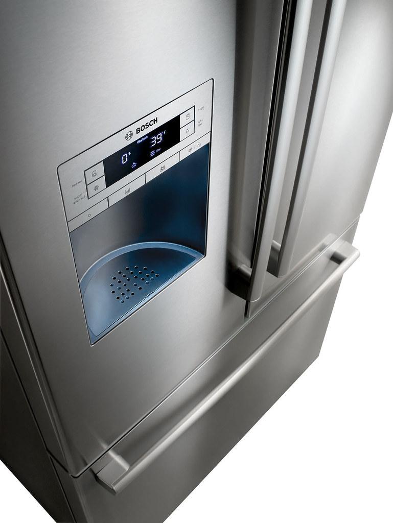 Refrigerator Bottom Freezer Stainless Steel Freezer