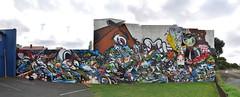 (Laser Burners) Tags: panorama graffiti auckland nz askew trackside tmd auk citynoise newaealand rtr netch gbak