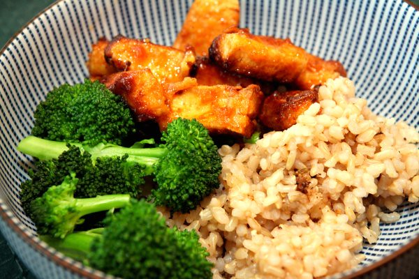 ginger tofu, ginger beef style