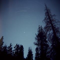 Lake Vernon Star Trails (dmacphoto) Tags: california film night stars holga fuji sierra yosemite startrails polaris lakevernon polestar danielmacdonald dmacphoto danielmacdonaldphotographer dmacphotocom