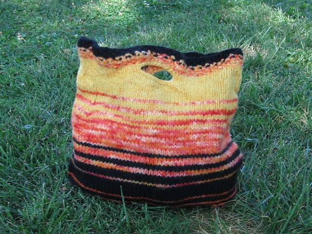 Fibonacci Felted Knit Bag and free pattern