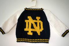 Notre Dame Jacket - Logo Intarsia