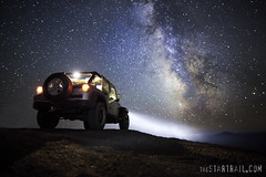 To Infinity- and Beyond!! (Ben Canales) Tags: night oregon truck stars lights star twilight jeep jeeps 4x4 bend galaxy unlimited cosmos darksky milkyway wrangler centralorgeon highbeams pinemountainobservatory bencanales thestartrailcom