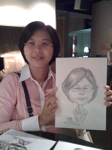 caricature live sketching for RBS 14 July 2010 - 2