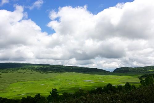 展望台から見下ろす雨竜沼湿原