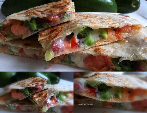 Tomato and Brocolli Quesadillas
