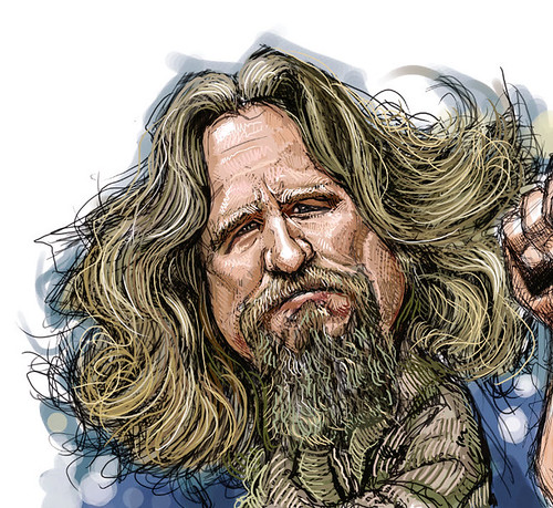 digital caricatures of The Big Lebowski - 1 small