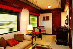 Maharajas' Express - Presidential Suite, lounge (Train Chartering & Private Rail Cars) Tags: indiantrain privatetrain privaterailcar chartertrain traincharter trainchartering privatecarriage luxurytravel luxurytrain luxurytrainclub indianluxurytrain maharajasexpress