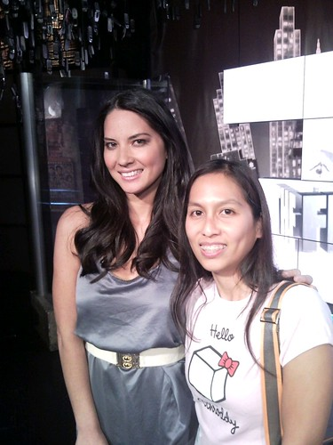 Forgot to send to #fb. Me and @oliviamunn. What's. Up.