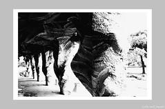 City Abstract - Mimic a Park Guell (伍角船板.內湖) - 4 (Leche con Compasio) Tags: bw abstract building film taiwan taipei 台灣 台北 建築 黑白 nikonf3hp 內湖 selfdeveloped 抽象 伍角船板 naihu fujifilmneopan400 d761110min nikkor28mmf2 富士底片 手工沖片