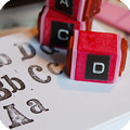 How to mount & custom make a alphabet stamp set