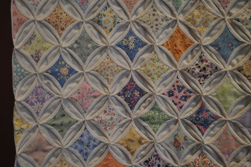 Cathedral window close-up, SMofA quilt show 2010