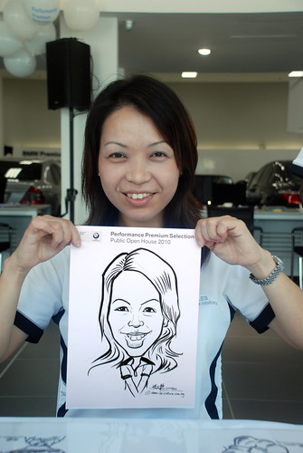 Caricature live sketching for Performance Premium Selection BMW - Day 2 - 7
