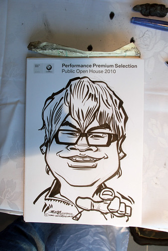 Caricature live sketching for Performance Premium Selection BMW - Day 2 - 13