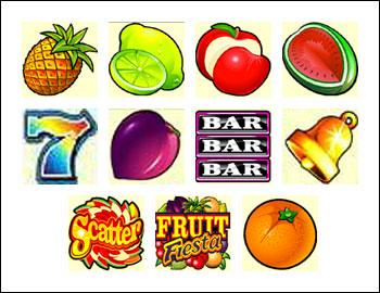 free Fruit Fiesta 5-Reels slot game symbols
