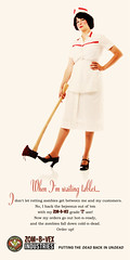 Waitress (thestapeliaco) Tags: woman funny zombie ad 1940s 1950s axe 1940sad