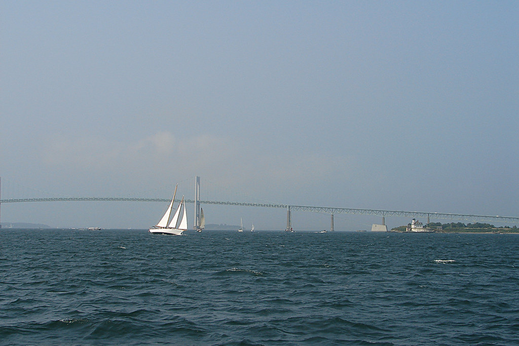 Newport Pell Bridge and Sailboat