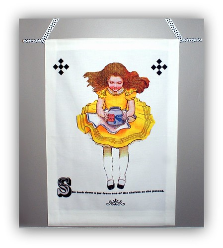Alice Down The Rabbit Hole wall hanging