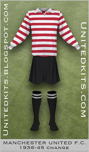 Manchester United 1936-1945 Change kit