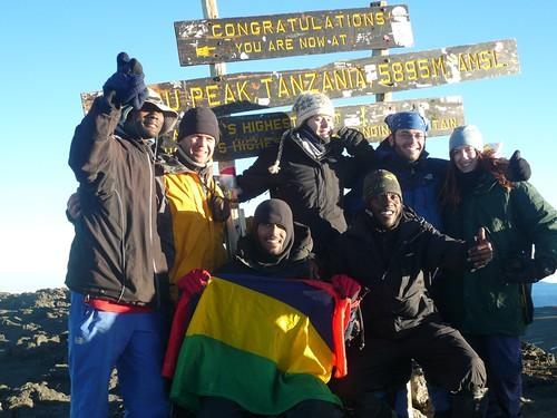 Our group at Uhuru Peak