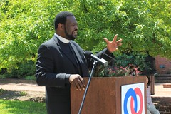 "Bishop Harry Jackson tells the crowd in Annapolis: ""The major civil right . . . is the right to vote."""