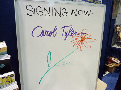 Carol Tyler signs in at Fantagraphics, Comic-Con 2010