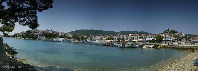Skiathos kikötő panoráma / Skiathos harbour panorama