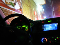 toronto ontario canada night drive dvd interior mcdonalds dash snack through hyundai mid accent thru mcds
