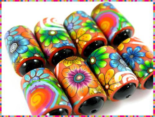 Spiced Orange- Barrel beads