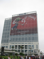 Hilton Bayfront with Scott Pilgrim Banner