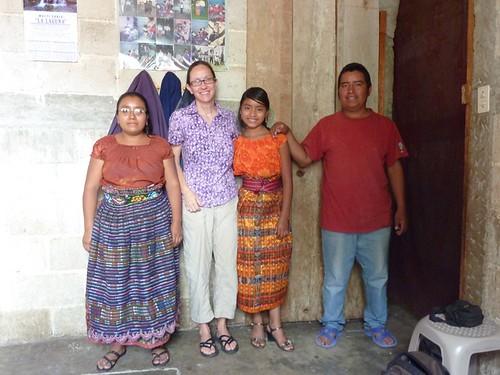 W/ Josefa Balam and her parents